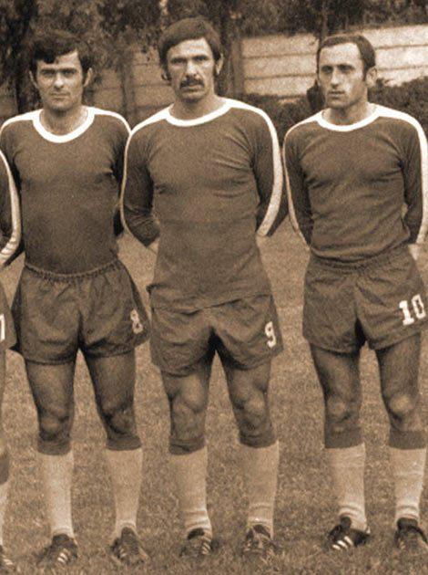 Сејали панику у противничке одбране почетком 1970-их: Савић, Јеврем, Чале, Ђокан и Заре. (Кликни за већу слику).
